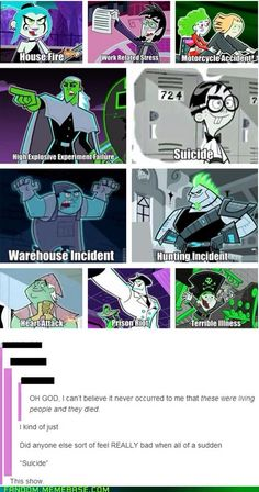 Danny Phantom Villains: Cause of Death
