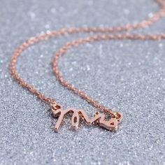 Mixed Metal Mrs Pendant Necklace - women's jewellery