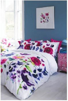 Feel good watercolour designs from bluebellgray. Bring colour and design into your life with modern and abstract floral bedding, cushions, fabric & home accessories by Scottish designer Fiona Douglas. Bluebellgray, Bed Linen Online, Cheap Bed Sheets, Bedding Sets Online, Buy Bed, Cotton Bedding, Floral Bedding, Bed Sets, House And Home Magazine