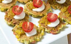 These colorful corn fritters are so versatile