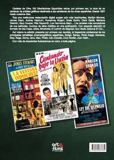 """""""Carteles de Cine. 100 Diseñadores Españoles"""", book, back cover. Selection of Spanish movie posters of the period 1927-2015. By Ignacio Michelena. Information and sales: papeldecine@gmail.com"""