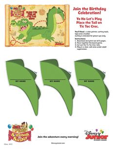 We'll be playing Jake's favorite game at his birthday party - place the tail on Tic Toc Croc! You can download your own version here: http://di.sn/c8m #JakeandtheNeverLandPirates #DisneyJunior