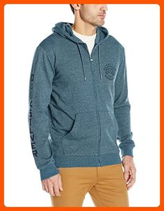 Quiksilver Men's Jungle Forest Zip Hoodie Sweatshirt, Moroccan Blue, Medium - Mens world (*Amazon Partner-Link)