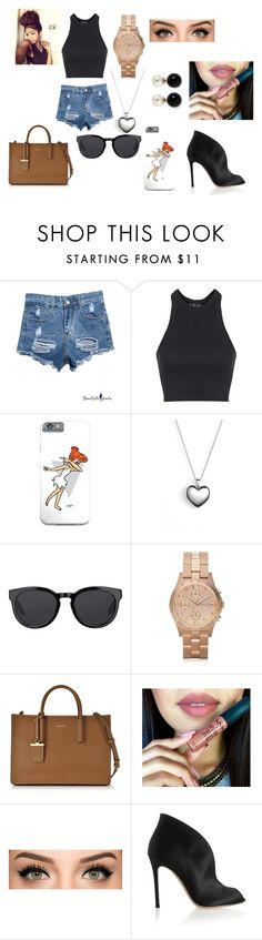 """""""anna and me hang out"""" by thats0jai on Polyvore featuring Topshop, Pandora, Barton Perreira, Marc by Marc Jacobs, DKNY, Gianvito Rossi, Kenneth Jay Lane, women's clothing, women and female"""
