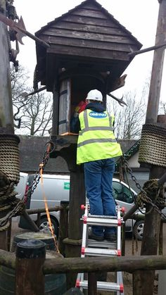 One of our animatronic engineers keeping busy on site servicing one of our installations.