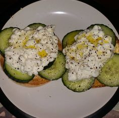 Early breakfast of cucumber and cottage cheese on muffins :) #goodfood #foodorgasm #foodgasm #foodgloriousfood #instagram #instalike #instadaily #instaframe #instafollow #instafood #instagood #instagramers #eatnowplaylater #explore #yummy #yourfoodguide #youfoodie #atkins #atkinsdiet #lowcarb #nocarb #food #foodlover #diet #starters #love #delicious #yougottaeatthis #comfortfood #homecookedmeal by youfoodie