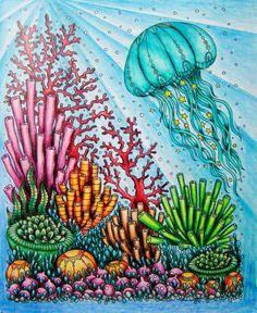 MalvorlagenHannah CarlsonMaria Troll & # s Fotos . Coloring Book Album, Coloring Books, Coloring Pages, Fish Artwork, Jellyfish Art, Underwater Painting, Johanna Basford Coloring Book, Mermaid Coloring, Environmental Art