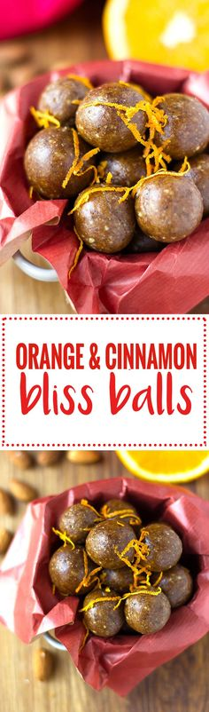 These orange and cinnamon bliss balls! Perfect christmas snack! No bake, gluten free, dairy free and vegan!