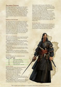 Homebrewing dnd DnD Homebrew Paladin Oath of Ancestors adn Oath of Vigilance by. Dungeons And Dragons Races, Dungeons And Dragons Classes, Dungeons And Dragons Homebrew, Reylo, Dnd Paladin, Submarine Movie, Dnd Stats, Dnd Classes, 70s Sci Fi Art