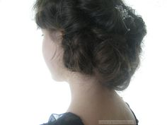Downton Abbey hair tutorial 1