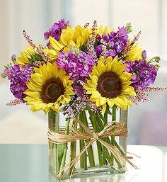 simple sunflower altar arrangement - Google Search