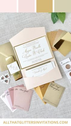 Sarahphina is a beautiful glitter wedding invitation. Whimsical Wedding Invitations, Monogram Wedding Invitations, Glitter Invitations, Blush Wedding Theme, Pink And Gold Wedding, Sparkle Wedding, Gold Weddings, Wedding Inspiration, Wedding Ideas
