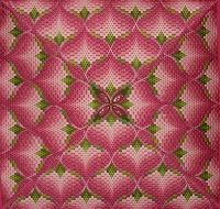 FRONT RANGE STITCHES: PINK ORCHID BARGELLO