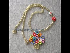 The Beading Gem's Journal: Easy Beaded Vase of Flowers Pendant Tutorial Bead Jewellery, Seed Bead Jewelry, Bead Earrings, Jewelery, Pearl Jewelry, Seed Bead Patterns, Beaded Jewelry Patterns, Diy Schmuck, Jewelry Making Tutorials