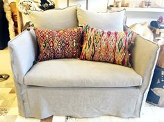 Vintage Moroccan pillows available at Millworks