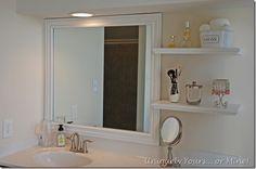 DESPUES  enmarcar un espejo de baño