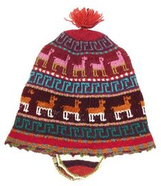 peruvian hat with llamas