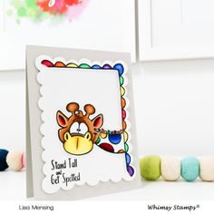 *NEW FaDoodles Frames Clear Stamps | Whimsy Stamps Whimsy Stamps, Friendship Cards, Stand Tall, Giraffes, Stamp Collecting, Digital Stamps, Clear Stamps, Frames, Illustration