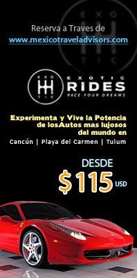 Exotics Rides Experimenta y vive la potencia de los autos mas lujosos del mundo en Cancun, Playa del Carmen & Tulum...