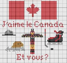Pays - country - canada - point de croix - cross stitch - Blog : http://broderiemimie44.canalblog.com/