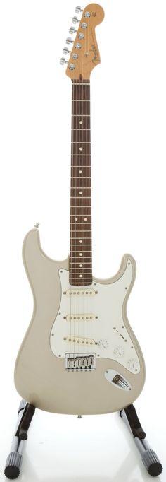 2002 Fender Stratocaster USA Inca Silver Solid Body Electric Guitar, Serial #Z0286009