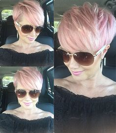 85 New Best Pixie Cut Ideas for 2019 Short Hairstyles 2018 – 2019 Most Popular Short Hairstyles for 2019 - Hair Color Layered Haircuts For Women, Short Pixie Haircuts, Short Hair Cuts, Haircut Short, Pink Short Hair, Pixie Hairstyles For Thick Hair Undercut, Pixie Cut With Long Bangs, Pink Haircut, Undercut Pixie Haircut