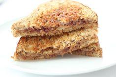Grilled peanut butter sandwich.