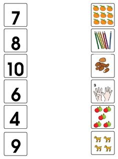 Fruit Count and Clip Cards: Numbers Alphabet Tracing Worksheets, Kindergarten Math Worksheets, Math Patterns, Preschool Writing, Learning Numbers, Math For Kids, Math Lessons, Math Centers, Day Care Activities