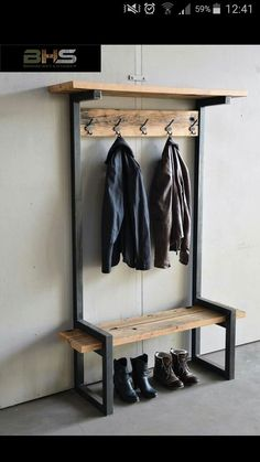 Give Your Rooms Some Spark With These Easy Vintage Industrial Furniture and Design Tips Do you love vintage industrial design and wish that you could turn your home-decorating visions into gorgeous reality? Furniture Design, Industrial Design Furniture, Diy Shelves, Vintage Industrial Furniture, Diy Furniture, Furniture, House Flooring, Home Decor, Metal Furniture