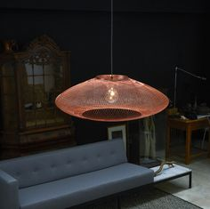 Succumb to the wide UFO pendant light of the Dutch design studio Rotterdam Atelier Robotiq, founded by the designers Soren Blomaard, Dimitrios Lakovou and. Next Wall Lights, Ceiling Lights, Modern Lighting, Lighting Design, Rotterdam, Dimmable Led Lights, White Ceiling, Led Lamp, Pendant Lighting