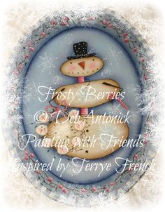 Frosty Berries by Deb Antonick, email pattern packet