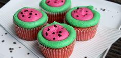 Fresh Watermelon Cupcakes by Cupcakerecepten.nl (it's a dutch website)
