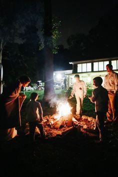 Lauren and Jon's backyard marshmallow roast. Photos by Jenna Henderson. #reception