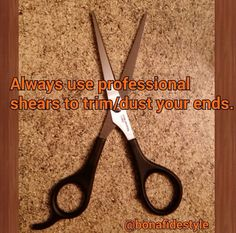 NOT USING PROFESSIONAL SHEARS WILL DAMAGE YOUR ENDS