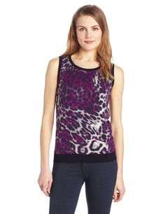 Jones New York Women's Sleeveless Printed Shell Tank Sweater *** Remarkable product available now. : Fashion