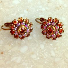 SALE⚜Gorgeous Earrings Absolutely beautiful Liz Palacios earrings. Antiqued brass and Swarovski crystals!  Stunning! Bought at Dillard's. NWOT!☀️   Reduced from $40 Liz Palacious Jewelry Earrings