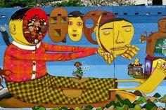 osgemeos grafite folclore popular intervencao urbana