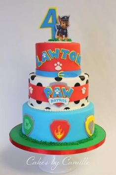 Paw Patrol Birthday Cake, Cakes by Camille Paw Patrol Cake by janell