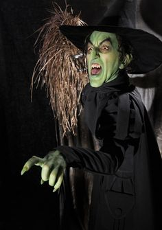 Best image of the Wicked Witch ever! This is a statue created by artist Mike Hill. See http://resinbarbarian.com/2009/08/10/mike-hill/ for other things he has done.