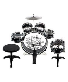This Black 11-Piece Children's Kid's Drum Play Set by Velocity Toys is perfect! #zulilyfinds
