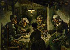 Vincent van Gogh    Patates Yiyenler / The Potato Eaters      1885. Tuval üzerine yağlıboya. 82 x 114 cm. Van Gogh Museum, Amsterdam.