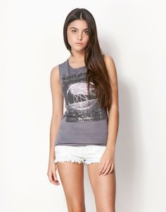 Bershka Ukraine - BSK open back T-shirt