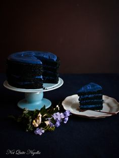 Blue Velvet Cake Recipe An Original Recipe by Lorraine Elliott Preparation time: 30 minutes plus cake cooling time Cooking time: 1 hour 5 minutes 2 cups cake flour* 1/2 cup cocoa powder 1 teaspoon bicarb 1/2 teaspoon salt 2 tablespoons cream 100g/3.5ozs. dark chocolate 225g/8ozs. butter, softened 2 cups caster or superfine sugar 4 eggs, at room temperature Blue gel or powder food colouring (avoid using cheaper colourings as they require that you use more and can affect tast