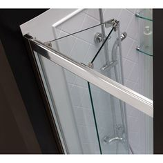 This smart kit from DreamLine offers the perfect solution for a small bathroom renovation with a BUTTERFLY bi-fold shower door, universal shower backwall panels and a coordinating SlimLine shower base Bifold Shower Door, Frameless Shower Doors, Glass Shower Doors, Glass Door, Bathtub Doors, Bathtub Shower, Shower Remodel, Bath Remodel, Shower Kits