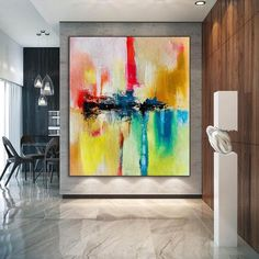 Large Abstract Painting Modern abstract painting original image 0 Large Canvas Wall Art, Abstract Canvas Art, Extra Large Wall Art, Canvas Size, Art Texture, Oversized Wall Art, Large Painting, Etsy, Original Paintings