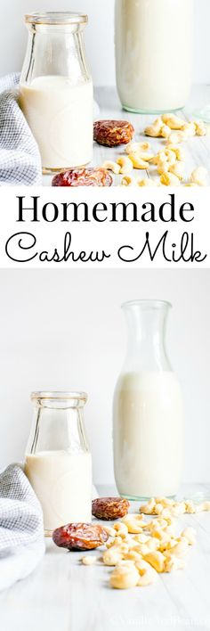 Rich, creamy and slightly sweet, easy to whip up and so delicious. Homemade Cashew Milk | Dairy Free, Vegan | Vanilla And Bean