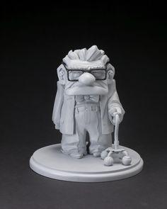 A grumpy looking Carl from UP! Sculpture by Greg Dykstra (Pixar Studios) Up Pixar, Disney Pixar Up, Art Disney, Disney Kunst, Character Concept, Character Art, Concept Art, Zbrush, Zootopia Characters