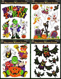 halloween window clings whats that at the window is it a bird is it a plane no its our colourful halloween window decorations - Halloween Window Clings