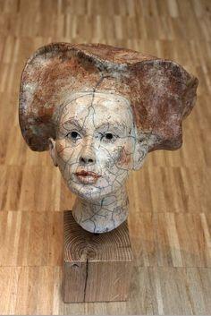 Raku head – Melanie Bourget, France