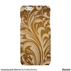 stunning gold abstract glossy iPhone 6 case